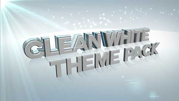 church media clean white