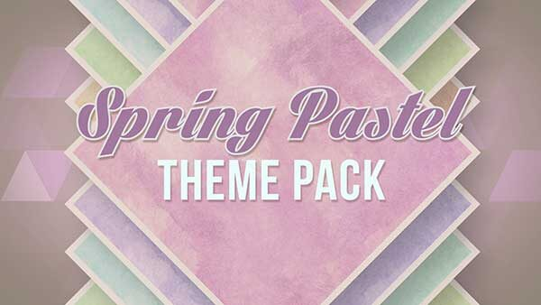 church media spring pastel