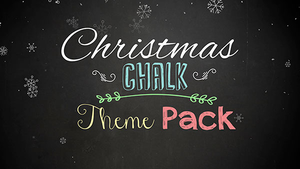 christmas church media chalk