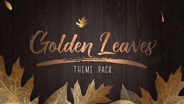 fall church media golden leaves