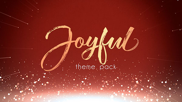 christmas church media joyful gold