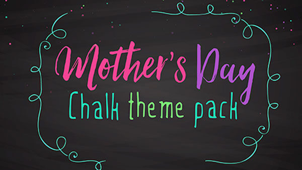 church media mothers day chalk