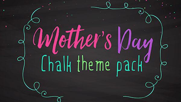 church media mothers day chalk