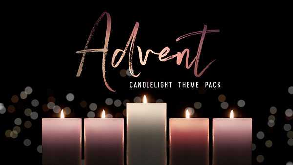 advent church media candlelight