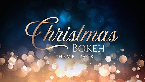 christmas church media bokeh