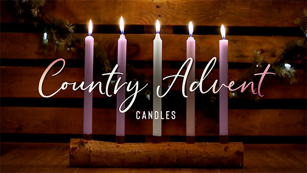 church media advent christmas candles
